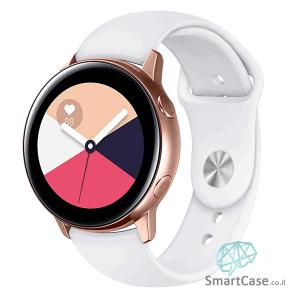 """רצועת סיליקון בצבע לבן לשעוני 20 מ""""מ ו-22 מ""""מ"""