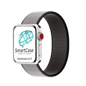 רצועת ניילון בצבע אפור עוגן עבור אפל ווטש Apple Watch