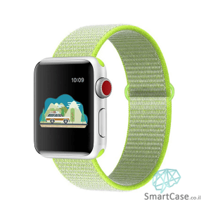 רצועת ניילון בצבע צהוב זוהר עבור אפל וואצ Apple Watch