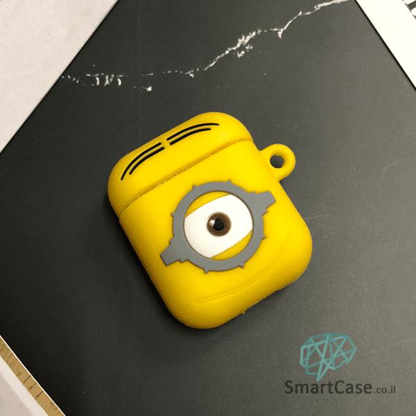 כיסויי איירפודס סיליקון דמות מצויירת עבור אירפודס 1/2 בצבע צהוב