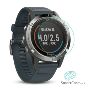 מגן מסך זכוכית לשעון יד חכם מדגם: Garmin Fenix 5