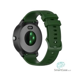 רצועת סיליקון בצבע ירוק עם אבזם לשעוני גלקסי וואווי גרמין הואמי