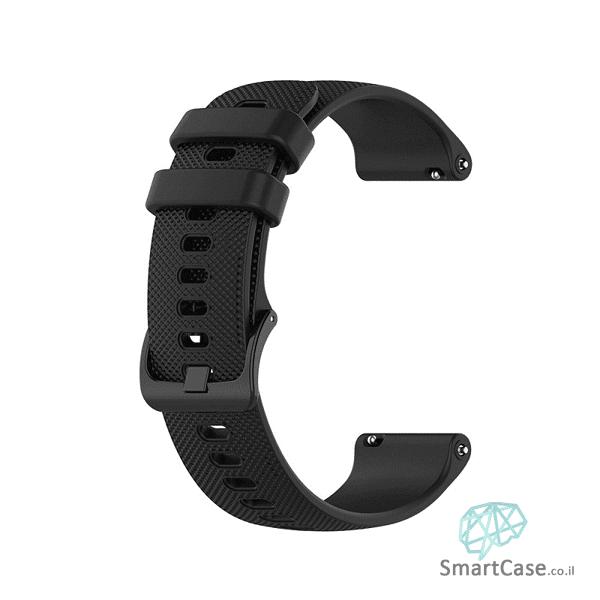 רצועת סיליקון בצבע שחור עם אבזם לשעוני גלקסי וואווי גרמין הואמי