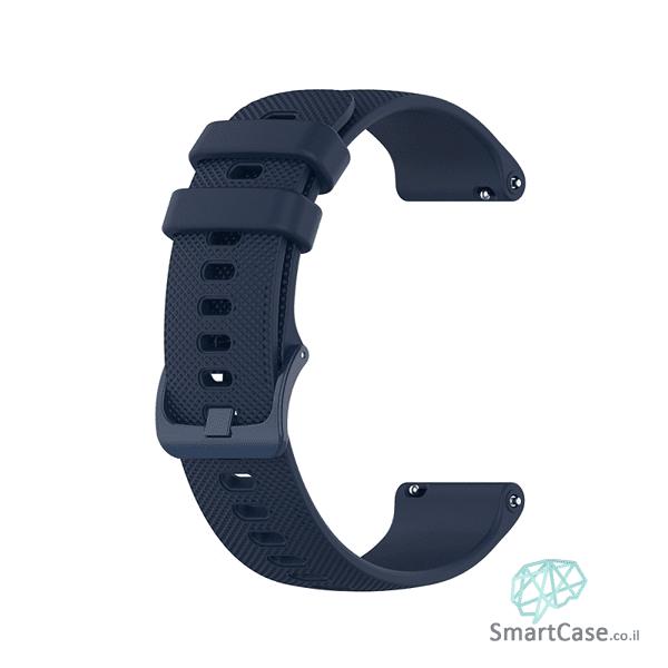 רצועת סיליקון בצבע כחול כהה עם אבזם לשעוני גלקסי וואווי גרמין הואמי