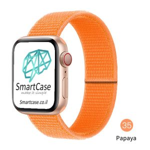 רצועת ניילון בצבע 35# Papaya עבור אפל ווטש