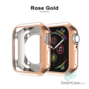 כיסוי היקפי חלקי מסיליקון זהב ורדים עבור שעון אפל ווטש 38/40/42/44 Apple Watch