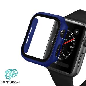 מגן מסך זכוכית היקפי כחול עבור שעון אפל ווטש 38/40/42/44 Apple Watch