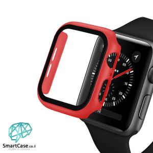 מגן מסך זכוכית היקפי אדום עבור שעון אפל ווטש 38/40/42/44 Apple Watch