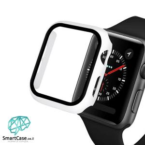 מגן מסך זכוכית היקפי לבן עבור שעון אפל ווטש 38/40/42/44 Apple Watch
