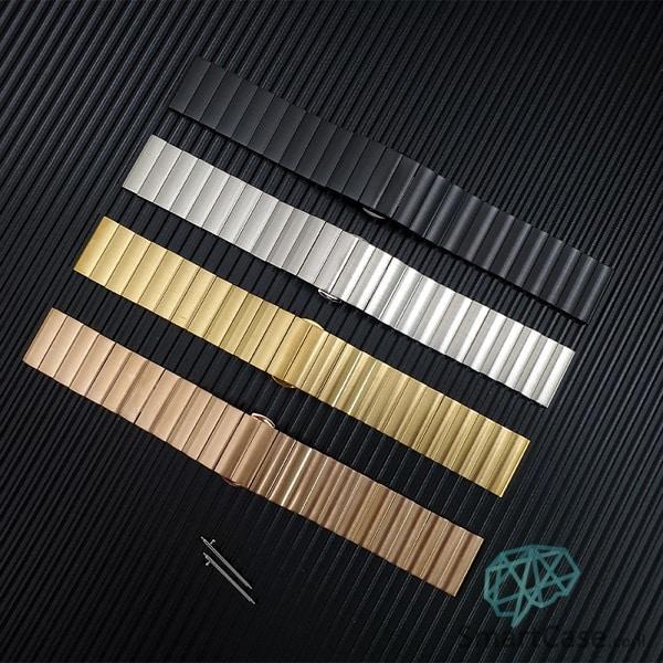 רצועת ברזל פרימיום איכותית בצבע זהב ורדים לשעוני גלקסי וואווי גרמין הואמי