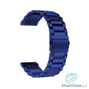 רצועת ברזל חוליות בצבע כחול לשעוני גלקסי וואווי גרמין הואמי