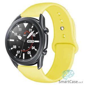 רצועת סיליקון בצבע צהוב לשעוני גלקסי וואווי גרמין הואמי