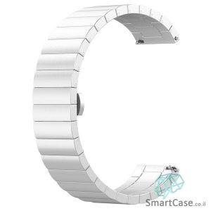 רצועת ברזל פרימיום איכותית בצבע כסוף לשעוני גלקסי וואווי גרמין הואמי