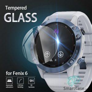 מגן מסך זכוכית לשעון יד חכם מדגם: Garmin fenix 6 (גרמין פניקס)