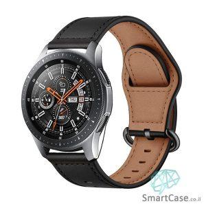 רצועת עור איכותית בצבע שחור לשעוני גלקסי וואווי גרמין הואמי