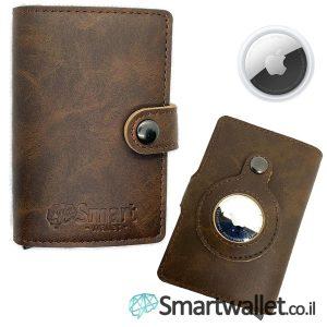 Smartwallet ארנק מעור airtag איירטאג של אפל חום