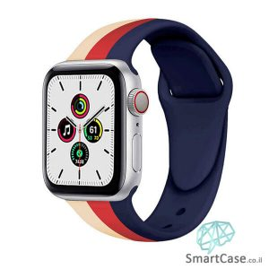 רצועת סיליקון 3 צבעים כחול אדום וחאקי לשעון אפל ווטש (העתק)