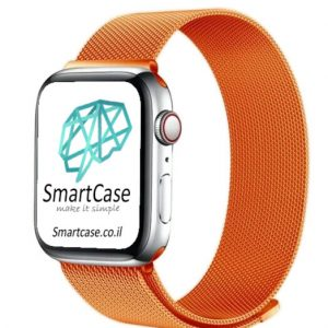 רצועת ברזל מגנט Milanese בצבע כתום עבור אפל ווטש Apple Watch (העתק)