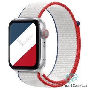 רצועת ניילון בצבע 07# France עבור אפל ווטש Apple Watch - סדרת מדינות