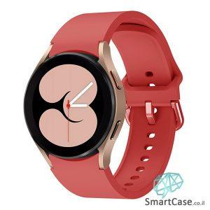 רצועת סיליקון חלקה בצבע אדום עם אבזם מעוגל לשעוני גלקסי ווטש 4