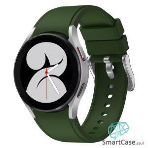 רצועת סיליקון חלקה בצבע ירוק עם אבזם לשעוני גלקסי ווטש 4