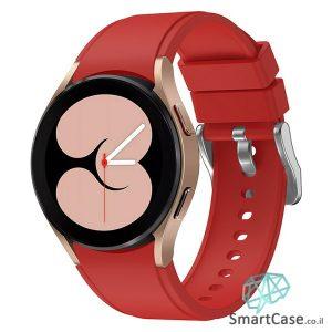 רצועת סיליקון חלקה בצבע אדום עם אבזם לשעוני גלקסי ווטש 4