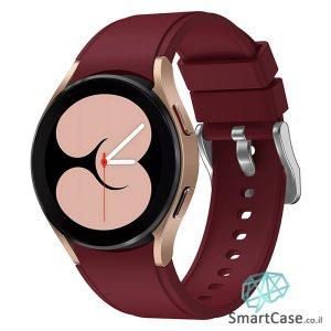 רצועת סיליקון חלקה בצבע Wine Red עם אבזם לשעוני גלקסי ווטש 4