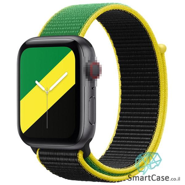 רצועת ניילון בצבע 19# Jamaica עבור אפל ווטש Apple Watch - סדרת מדינות